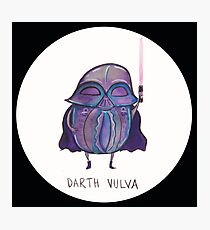 Darth Vulva Photographic Print