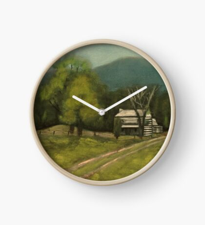 PHILIP'S PLACE, Pastel Painting, for prints and products Clock