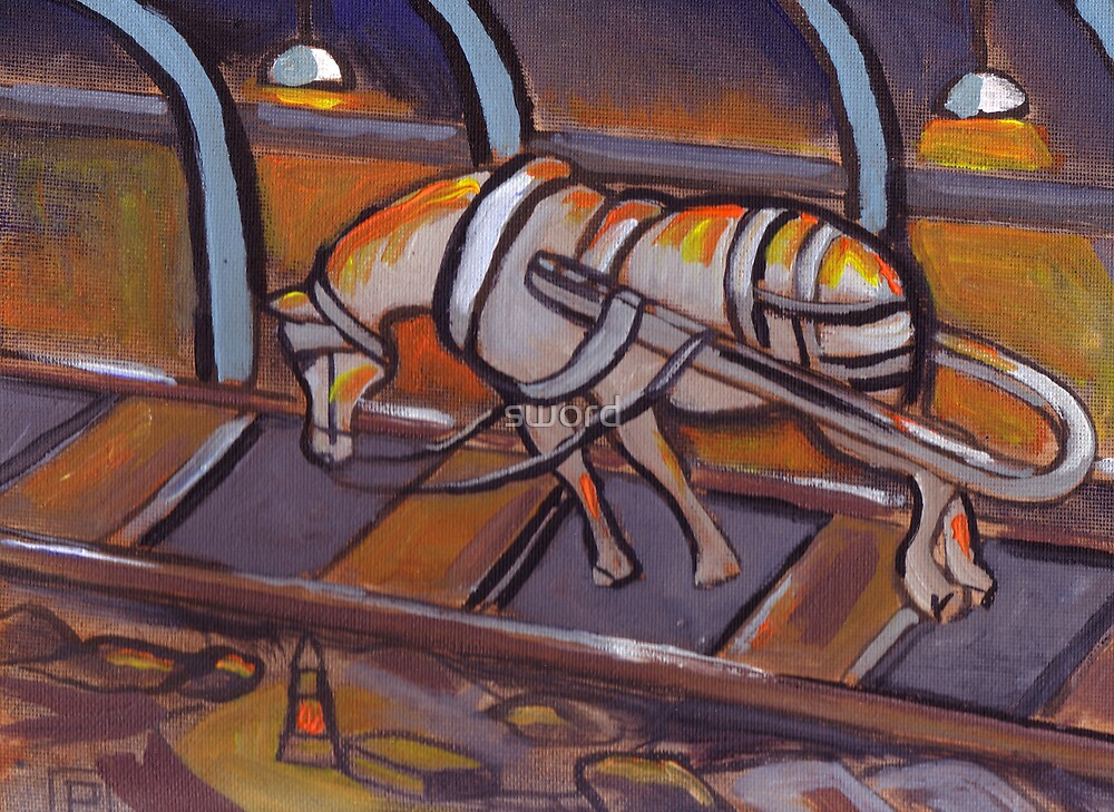 A Tired Pit Pony by sword