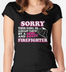 Sorry This Girls Is Taken By A Firefighter Women's Fitted Scoop T-Shirt