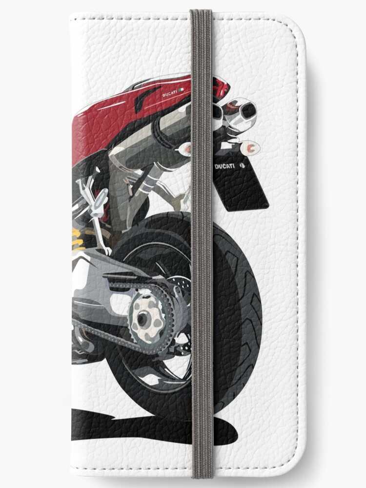 Ducati 848 Bike Cartoon Iphone Wallets By Toonmyride Redbubble