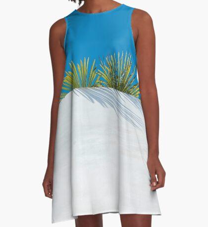 Über der tropischen Gartenmauer A-Linien Kleid