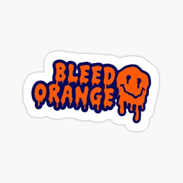 Bleed Orange Sticker
