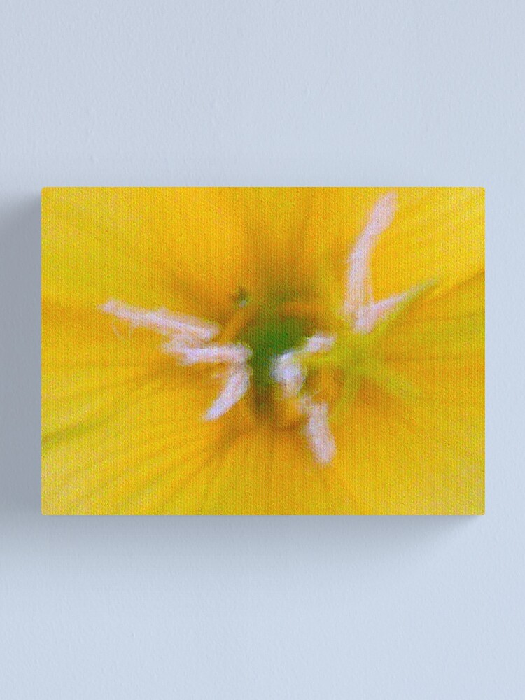 Alternate view of Yellow Frenzy Canvas Print