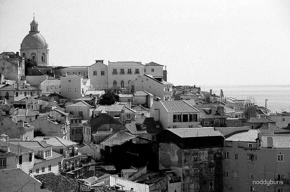 Lisbon Cityscape, Portugal by noddybuns