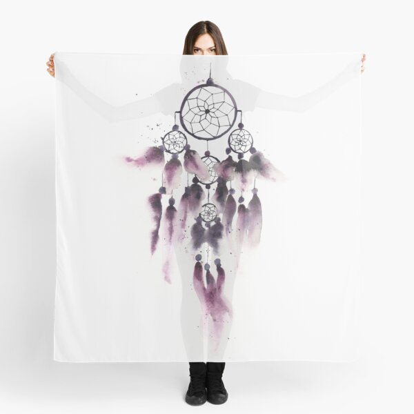 Dreamcatcher With Purple Feathers  Scarf