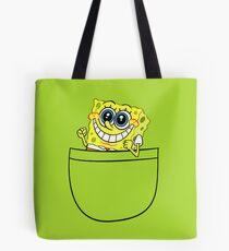 Pocket spongebob Tote Bag