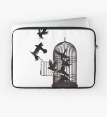 Crow Bird Cage Bird Cage Animal Freedom Laptop Sleeve