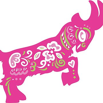 Pretty in Pink Pygmy Goat by awkwarddesignco