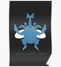 Heracross, the Single Horn Pokemon Poster