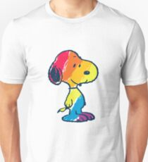 rainbow snoopy Unisex T-Shirt