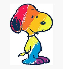 rainbow snoopy Photographic Print