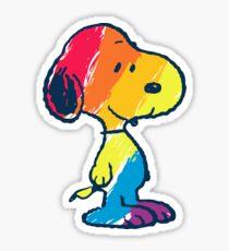 rainbow snoopy Sticker
