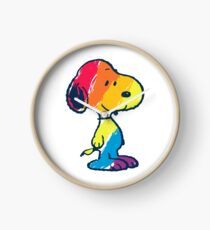 rainbow snoopy Clock