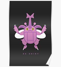 Shiny Heracross, the Single Horn Pokemon Poster