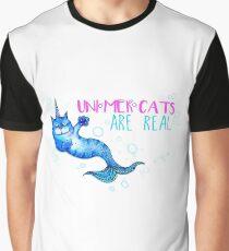 Unimercats are real (unicorn, mermaid, cat) Graphic T-Shirt