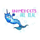 Unimercats are real (unicorn, mermaid, cat) by jitterfly