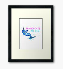 Unimercats are real (unicorn, mermaid, cat) Framed Print