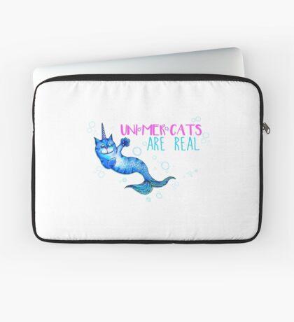 Unimercats are real (unicorn, mermaid, cat) Laptop Sleeve