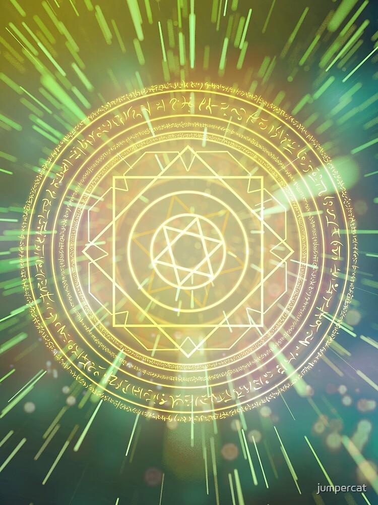 Seltsame magische Mandala 3 von jumpercat