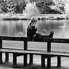 Sitting by the pond by Tony Blakie
