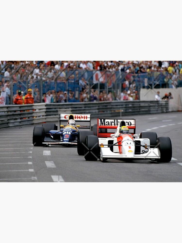 Ayrton Senna vs Nigel Mansell Greeting Card