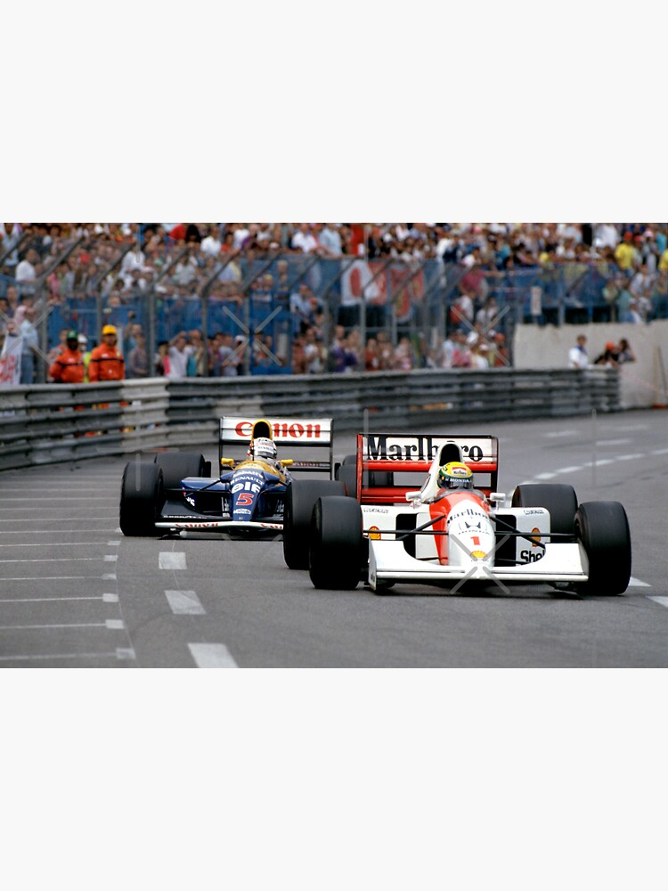 Ayrton Senna gegen Nigel Mansell in Monaco '92 von DazImolaWOC