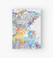 world map Hardcover Journal