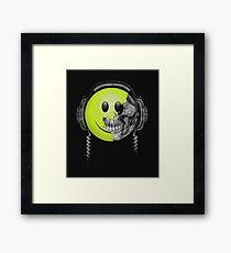 Zombie DJ Smiley Face Framed Print