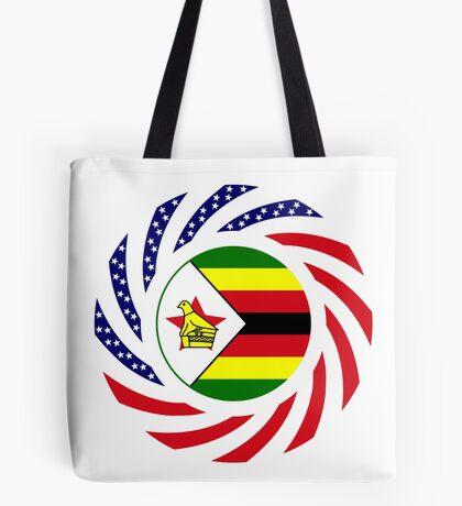 Zimbabwean American Multinational Patriot Flag Series Tote Bag