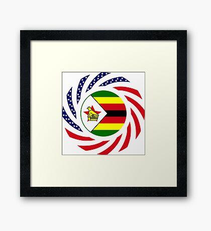 Zimbabwean American Multinational Patriot Flag Series Framed Print