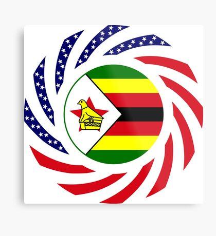 Zimbabwean American Multinational Patriot Flag Series Metal Print