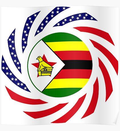 Zimbabwean American Multinational Patriot Flag Series Poster