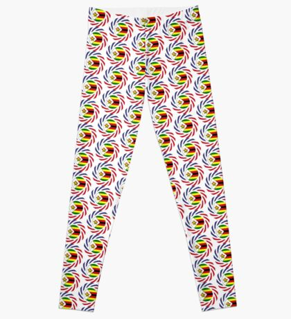 Zimbabwean American Multinational Patriot Flag Series Leggings
