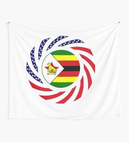 Zimbabwean American Multinational Patriot Flag Series Wall Tapestry