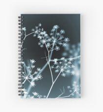 Midnight Glow. Dark Floral Spiral Notebook