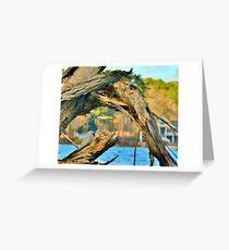 Heron Among The Trees  Greeting Card