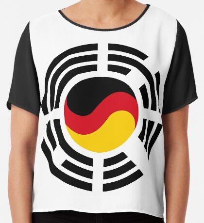 Korean German Multinational Patriot Flag Series Chiffon Top