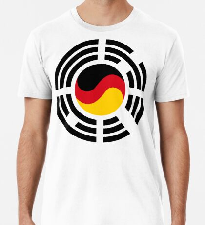 Korean German Multinational Patriot Flag Series Premium T-Shirt
