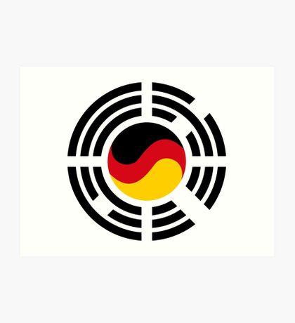 Korean German Multinational Patriot Flag Series Art Print