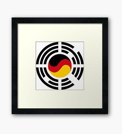 Korean German Multinational Patriot Flag Series Framed Print