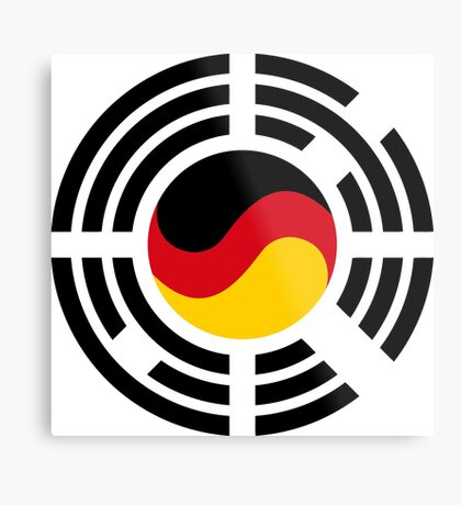 Korean German Multinational Patriot Flag Series Metal Print