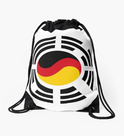 Korean German Multinational Patriot Flag Series Drawstring Bag