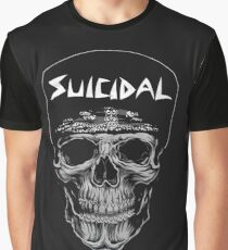suicidal Graphic T-Shirt