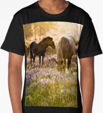 Horse and foal in the New Forest Long T-Shirt