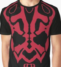 Darth Maul Organic Shapes Graphic T-Shirt