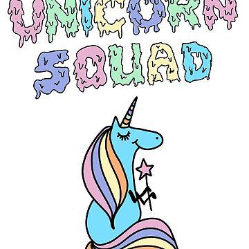 Unicorn Squad Cute Funny Unicorn Party Shirt by treasuregnome