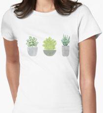 Watercolor Succulent Houseplants T-Shirt