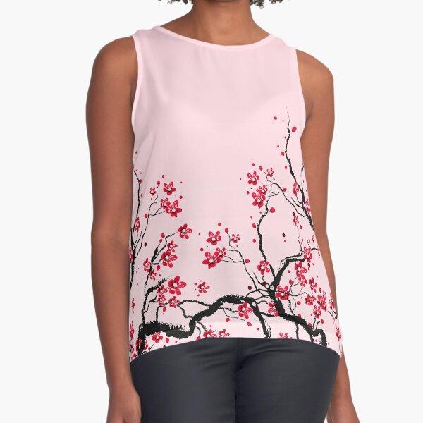 Cherry Blossom Sleeveless Top