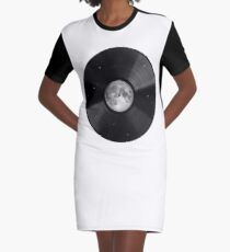 Moon song Graphic T-Shirt Dress